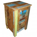 Nachtkastje sloophout met houten deurtje