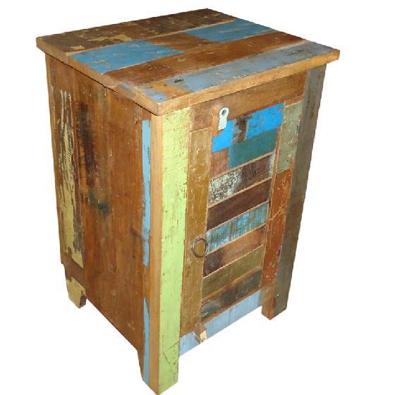 Nachtkastje sloophout met houten deurtje  Jenalin Webwinkels